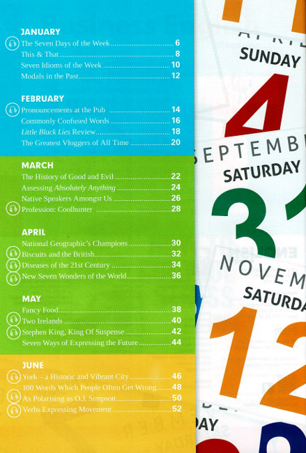 English Matters Weeke by week English Long-term Calendar