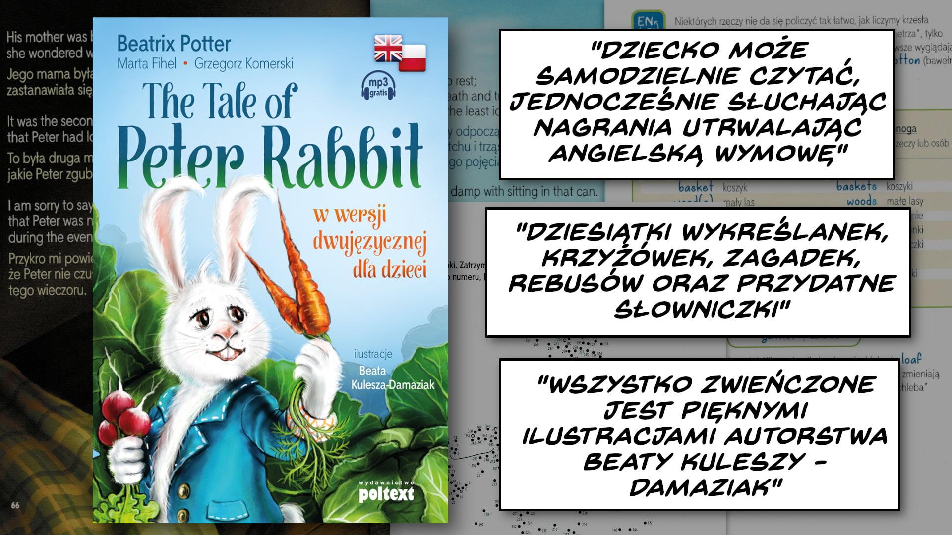 The Tale of Peter Rabbit – Historia Piotrusia Królika do nauki angielskiego dla dzieci (PL/EN)